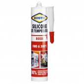 Silicone Per Alte Temperature - ROSSO - 300ml - BOSTIK MAX 300 °C
