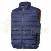 Gilet da lavoro HUGO color BLU -interno color arancio