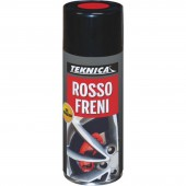 Smalto sintetico spray ROSSO FRENI - 400ml resistente alle alte temperature(110C°) - X 4 PINZE FRENI …
